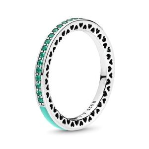 Radiant Hearts of Pandora mint green ring